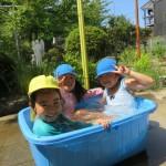 水遊び(預かり保育)